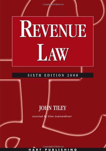 Revenue Law By John Tiley
