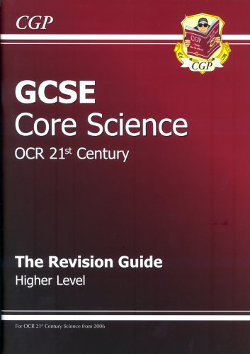 GCSE Core Science OCR 21st Century Revision Guide By CGP Books