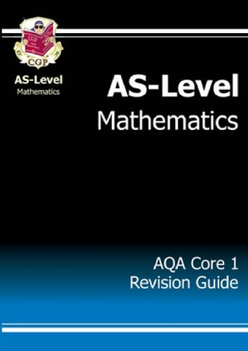 As-level Maths AQA Core 1 Revision Guide by CGP Books
