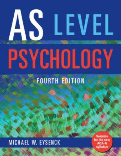 As Level Psychology By Michael W Eysenck Royal Holloway