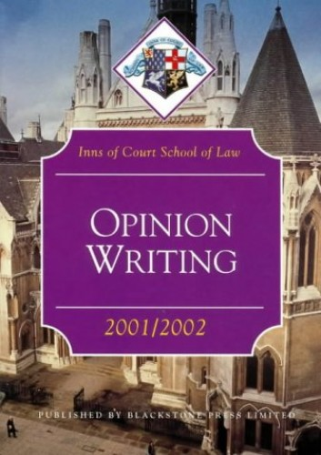 Opinion Writing By Inns of Court School of Law