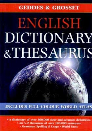 English Dictionary Thesaurus By Kolektif