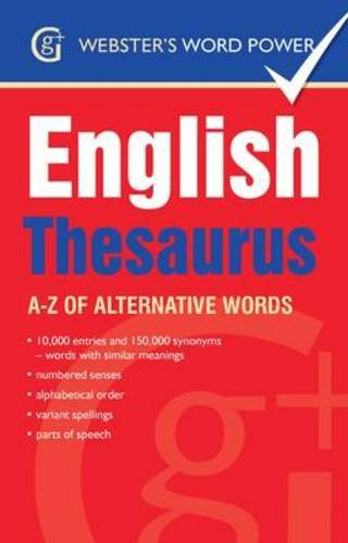 Webster's Word Power English Thesaurus By Betty Kirkpatrick