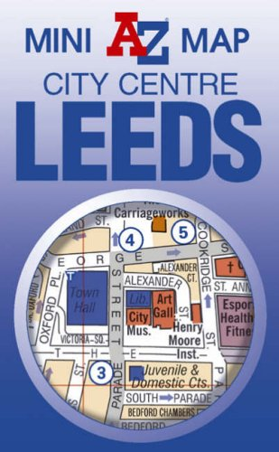 Leeds Mini Map By Geographers A-Z Map Company