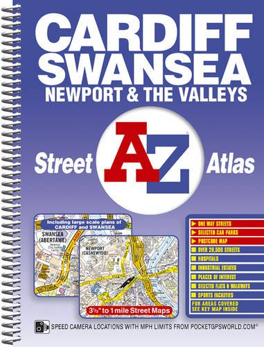 Cardiff, Swansea and The Valleys Street Atlas By Geographers' A-Z Map Company