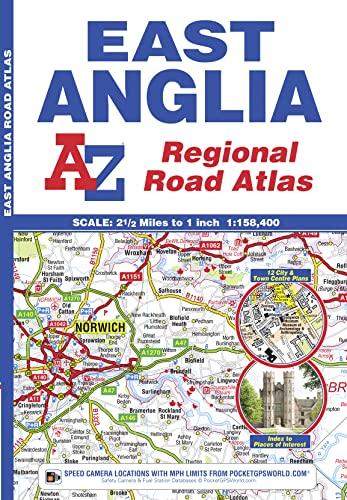 East Anglia Regional Road Atlas By Geographers' A-Z Map Company