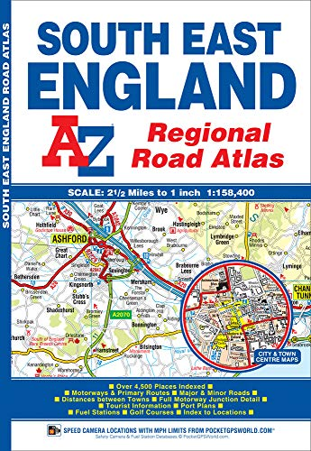 South East England Regional Road Atlas By Geographers' A-Z Map Company