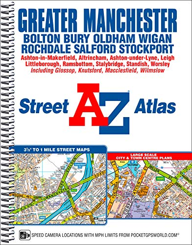 Greater Manchester Street Atlas By Geographers' A-Z Map Company