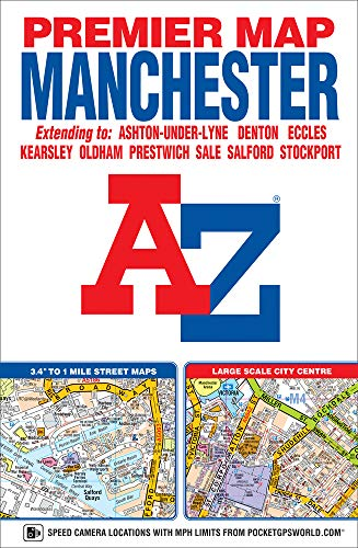 Manchester Premier Map By Geographers' A-Z Map Company