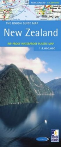 A Rough Guide Map New Zealand by Rough Guides