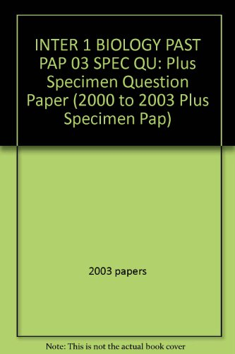 SQA  Papers in Intermediate 1 Biology By 2003 papers