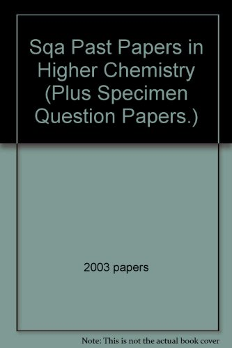 SQA Past Papers in Higher Chemistry By 2003 papers