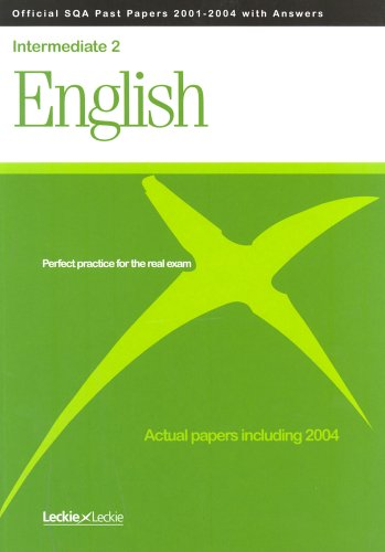 English Intermediate 2 SQA Past Papers By Scottish Qualifications Authority