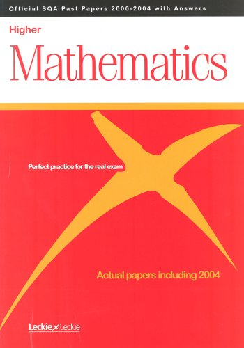 MATHS HIGHER SQA PAST PAPERS (Official Sqa Past Paper Higher)