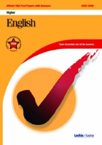 English Higher SQA Past Papers