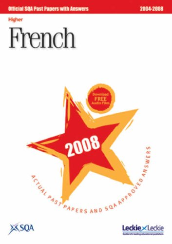 French Higher  SQA Past Papers: 2008 by SQA