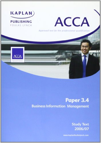 ACCA Paper 3.4 Business Information Management By Kaplan Publishing
