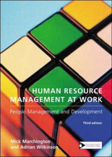 human resource management at work marchington pdf