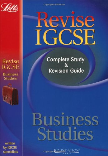 Revise IGCSE Business StudiesStudy Guide By -