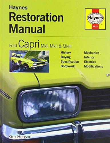 Ford Capri Restoration Manual By Kim Henson