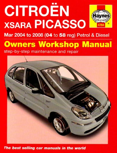 Citroen Xsara Picasso Petrol and Diesel Service and Repair Manual: 2004 to 2008 (Service & repair manuals) By Martynn Randall