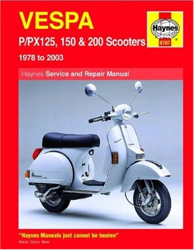 Vespa P/PX 125, 150 and 200 Service and Repair Manual By Pete Shoemark