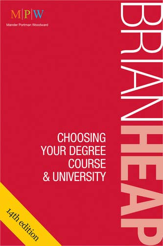 Choosing Your Degree Course & University By Brian Heap