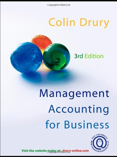 Management Accounting for Business Decisions By Colin Drury