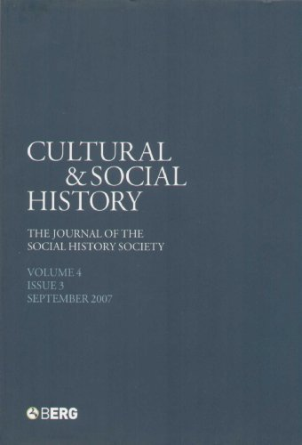 Cultural and Social History By Anthony McElligott