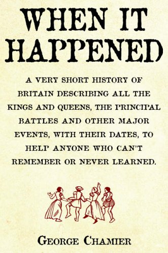 When it Happened By George Chamier