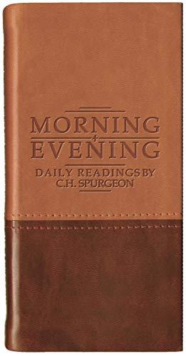 Morning And Evening - Matt Tan/Burgundy By C. H. Spurgeon