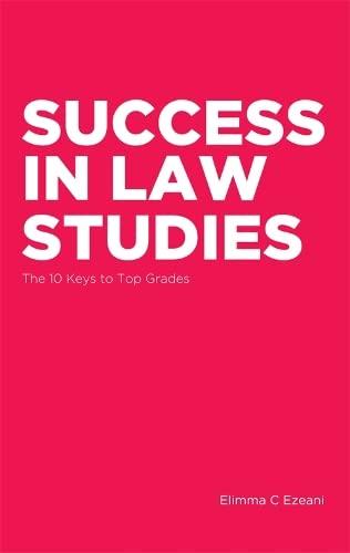 Success in Law Studies By Elimma C. Ezeani