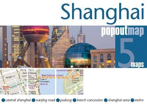 Shanghai PopOut Map by Compass Maps