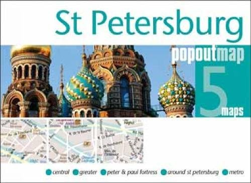 St Petersburg PopOut Map By PopOut Maps