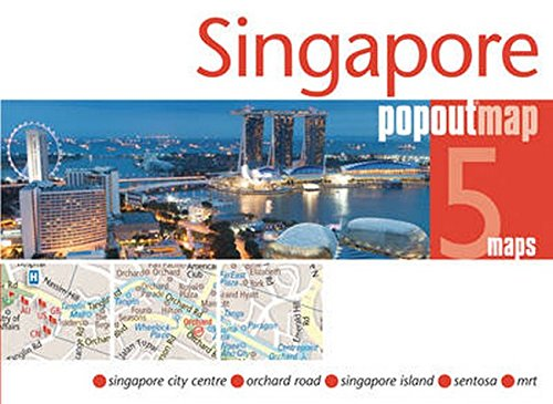 Singapore PopOut Map by PopOut Maps