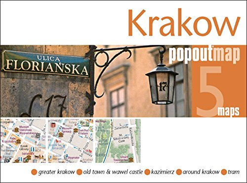 Krakow PopOut Map - handy pocket-size pop up city map of Krakow (PopOut Maps) By Created by PopOut Maps