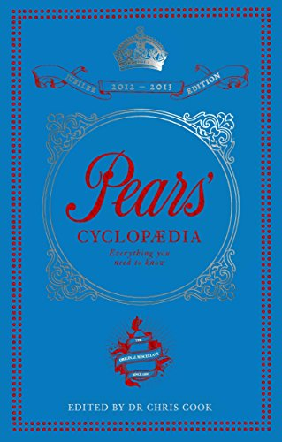 Pears' Cyclopaedia 2012-2013 By Chris Cook
