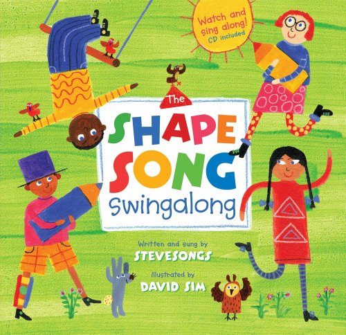 The Shape Song Swingalong w CDEX (Book & Enhanced CD) (A Barefoot Singalong) By Steve Songs