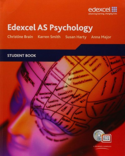 Edexcel AS Psychology Student Book + ActiveBook with CDROM by Christine Brain