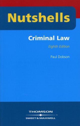 Nutshells Criminal Law By Professor Paul Dobson