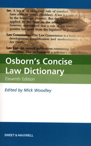 Osborn's Concise Law Dictionary Edited by Mick Woodley