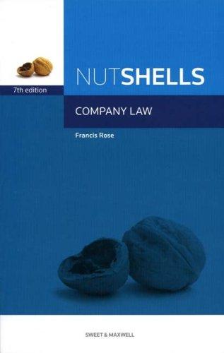 Nutshells Company Law By Professor Francis Rose