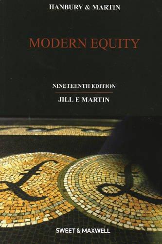 Hanbury & Martin: Modern Equity By Jill Martin