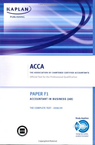 F1 Accountant in Business AB: Complete Text by