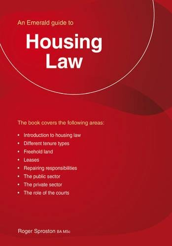 Housing Law By Roger Sproston