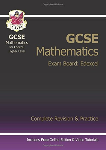 GCSE Maths Edexcel Complete Revision & Practice with online edition - Higher (A*-G Resits) By CGP Books