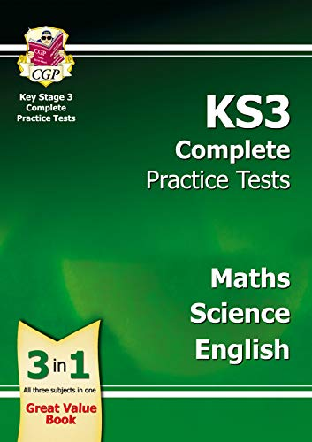 KS3 Complete Practice Tests - Maths, Science & English By CGP Books