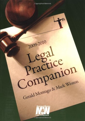Legal Practice Companion 2009/2010 By Gerald Montagu