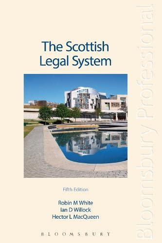 The Scottish Legal System By Hector MacQueen