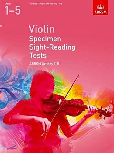 Violin Specimen Sight-Reading Tests, ABRSM Grades 1-5 By DIVERS AUTEURS